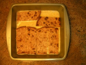 Soak bread