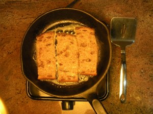 Saute bread