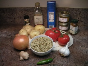 Lentil Samosa Ingredients