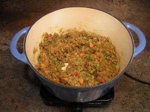 Let lentils cool.
