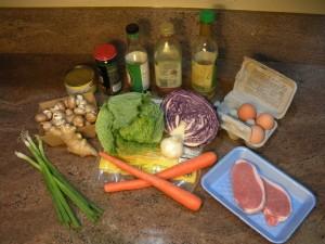 Mu Shu Ingredients